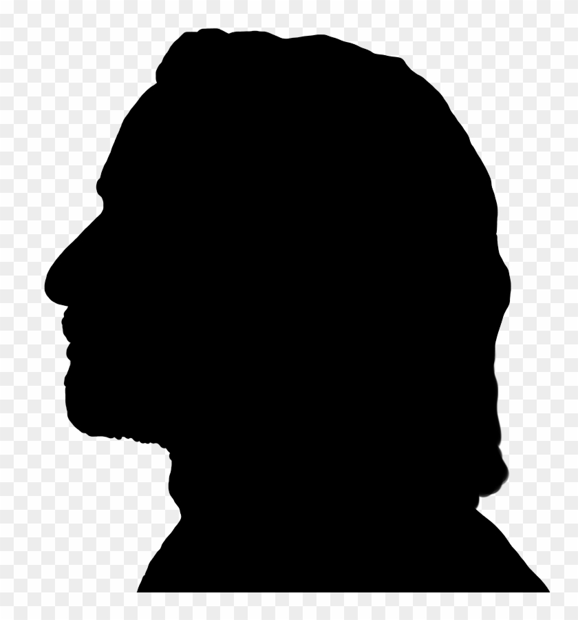 Retro Male Face Silhouette, Black Silhouette Of Man's - Old Man Silhouette  Transparent