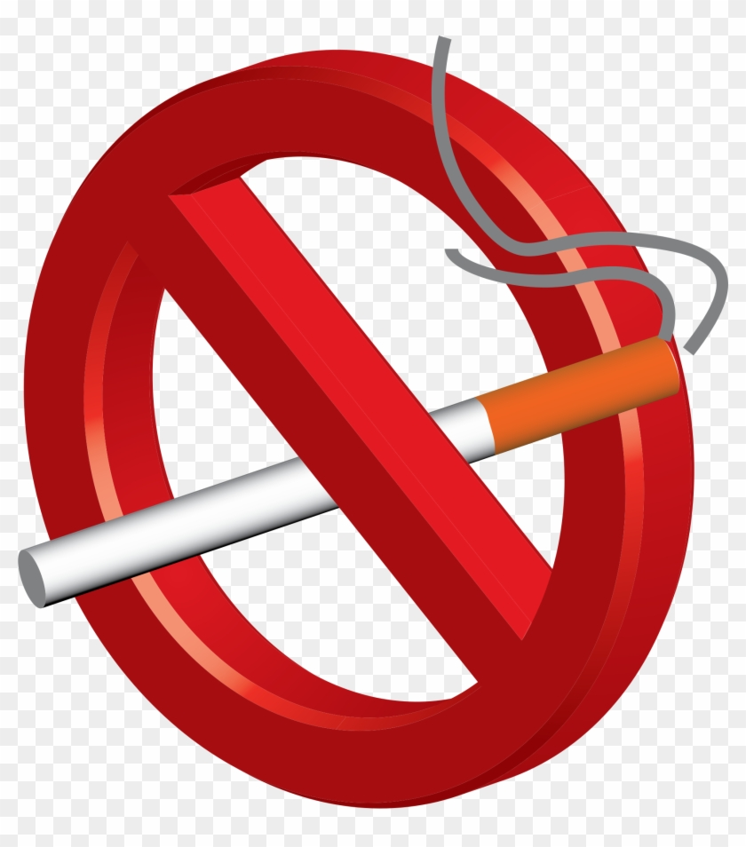 Smoking Clipart No Smoking - No Smoking Sign 3d #261691