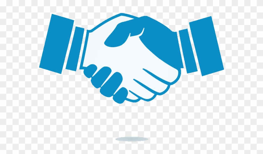 Shaking Hands Business People Who Checkmark Icon - Hand Shake Icon Transparent #261761