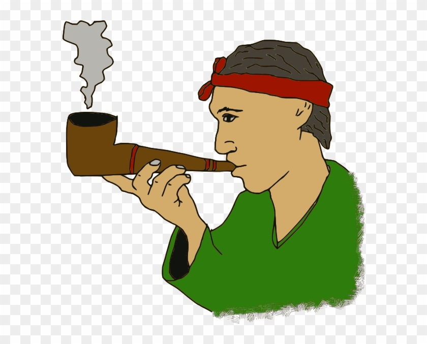 Old Man With A Pipe Clipart - Man Smoke Pipe Clipart #261879