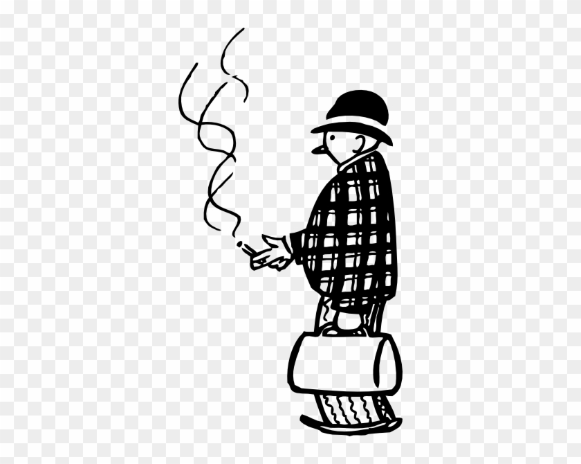 People Smoking Clipart Black And White #261938