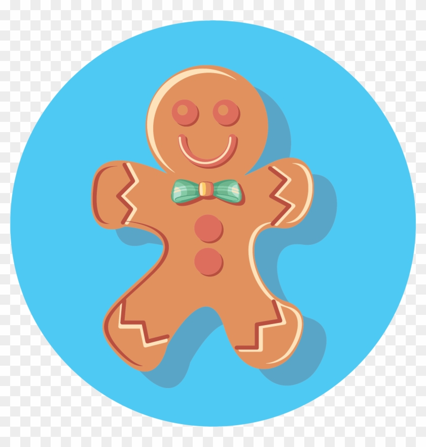 Gingerbread Man Icon Clipart - Gingerbread Man Icon #262038