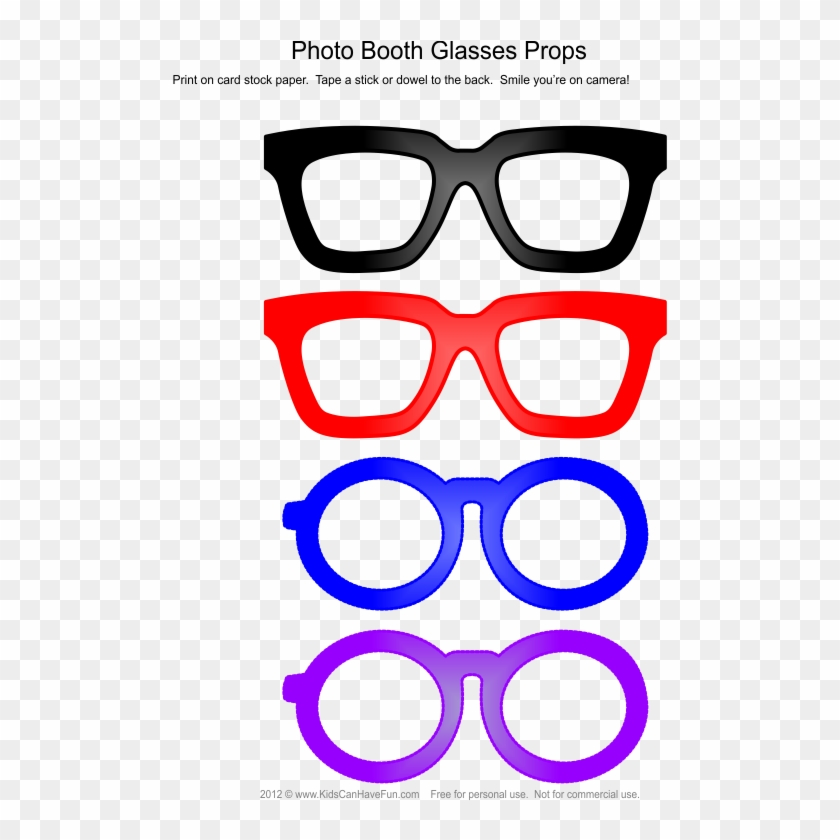 Glass Clipart Photobooth - Glasses Frames Photo Booth - Free ...