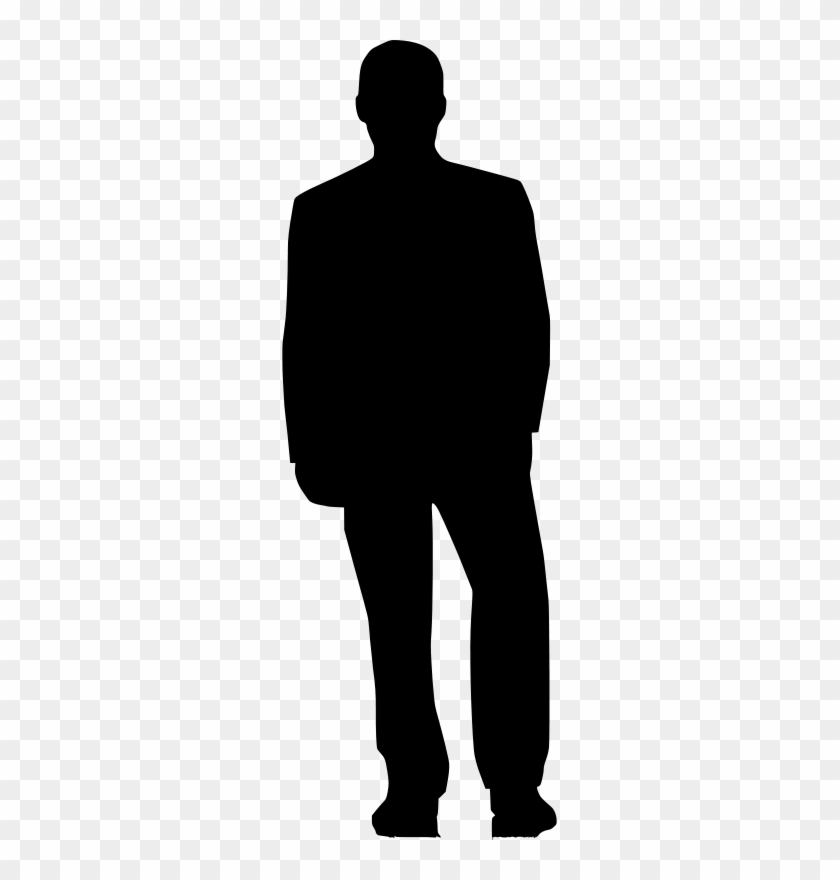 mypuzzledesign business man standing silhouette in - 840×880