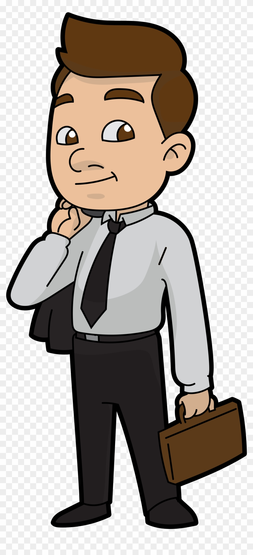 cartoon businessman ready for work businessman cartoon