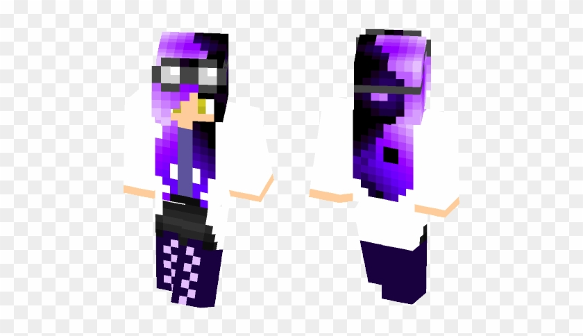 Ying Yang Lab Girl - Cute Summer Minecraft Skins For Girls