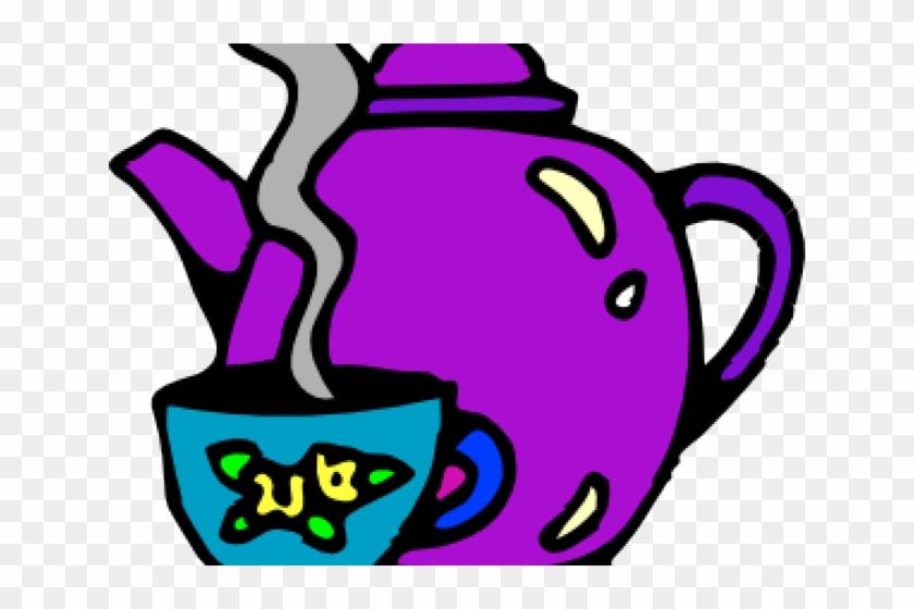 Kettle Clipart Morning Tea - Tea Cup Clip Art #1708118