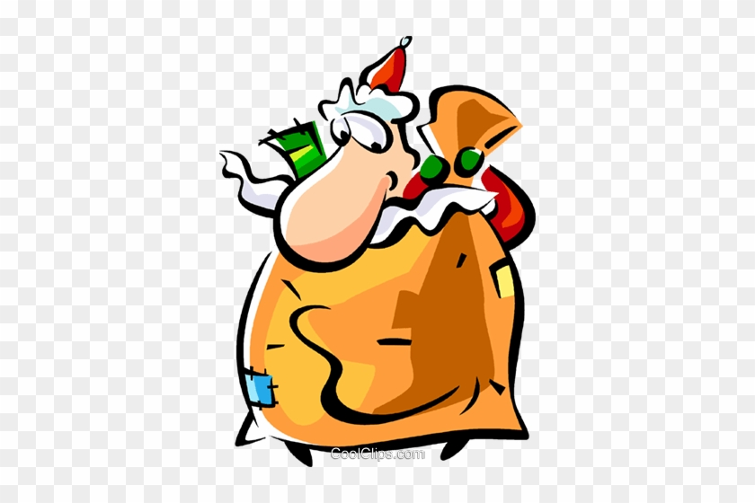 Santa Putting Toys Into His Toy Sack Royalty Free Vector - Santa Putting Toys Into His Toy Sack Royalty Free Vector #1708938