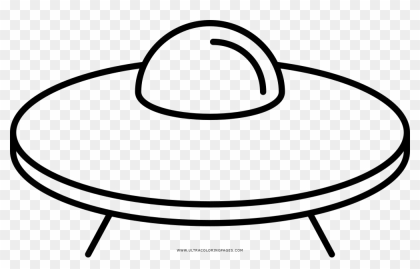 Flying Saucer Coloring Page - Alien Spaceship Drawing Easy #1710159