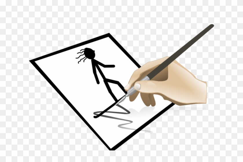 Drawing Clipart Transparent - Clip Art Hand Painting #1711513