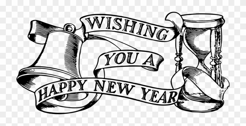 New Year 2019 Clipart - Happy New Year 2019 Drawing #1712654