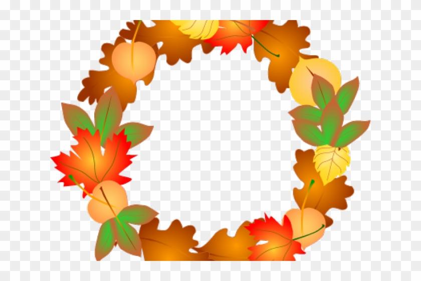 Blue Clipart Wreath - Leaves Clipart Fall Borders #1714323