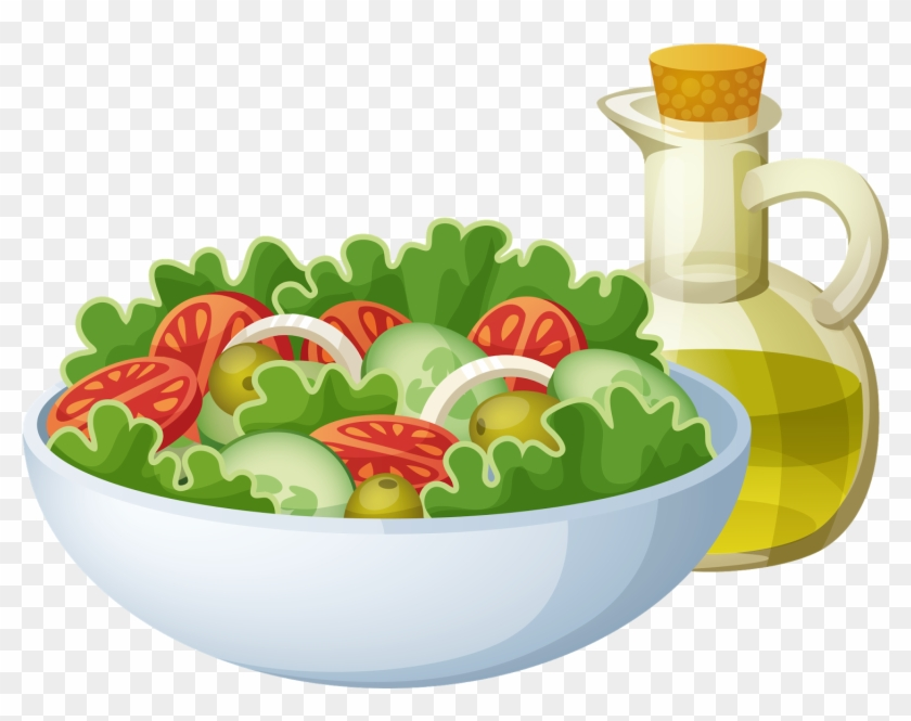 Salad Clipart Free Cartoon Bowl Of Salad Free Transparent Png