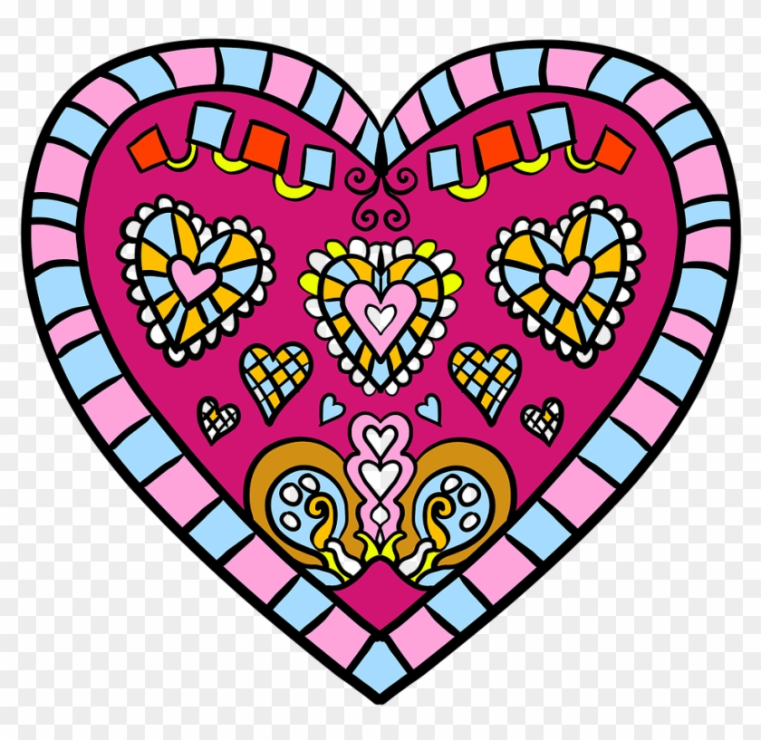 Flower Cute And White Coloring Page Hearts Valentines Colouring Pages Free Printable Free Transparent Png Clipart Images Download