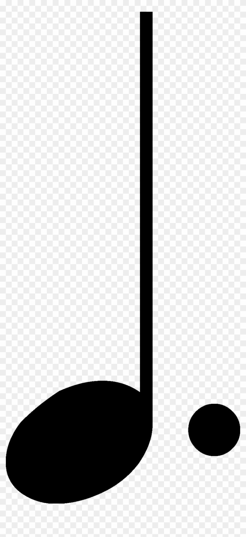 Clipart Music Quarter Note - Dotted Quarter Note Clip Art #1715774