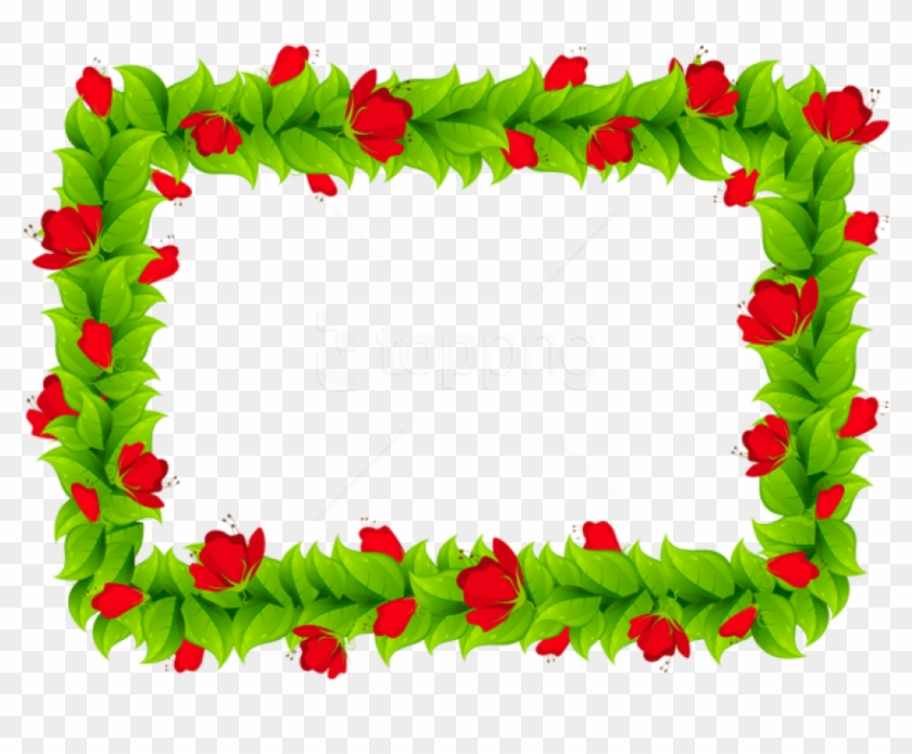 Free Png Download Floral Border Frame Clipart Png Photo - Flower Clipart Borders And Frames #1716695