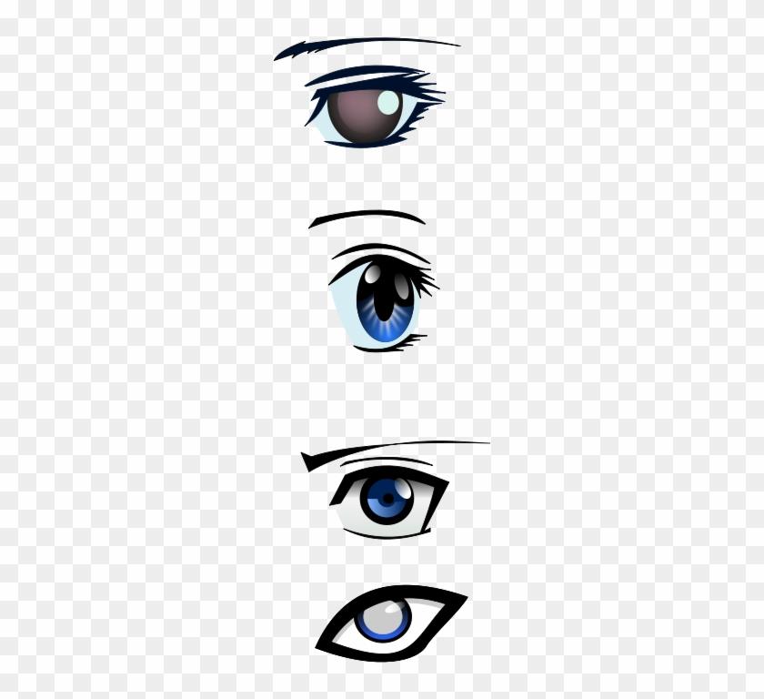 Similar Clip Art - Anime Male Eyes Vector #1716919