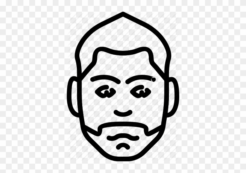 Png Transparent Download Jellycons Outline Men Faces - Icon People Face Png Draw #1717041