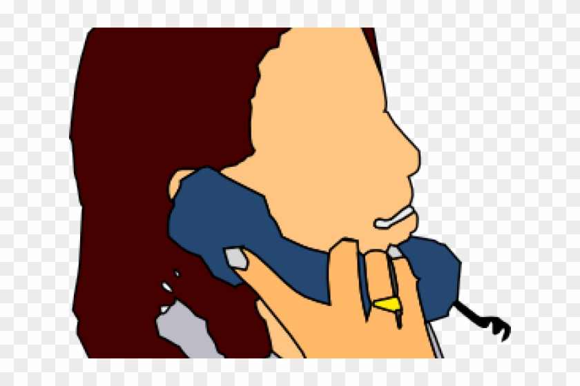 Phone Clipart Phone Conversation - Girl Talking On Phone Clipart #1717469