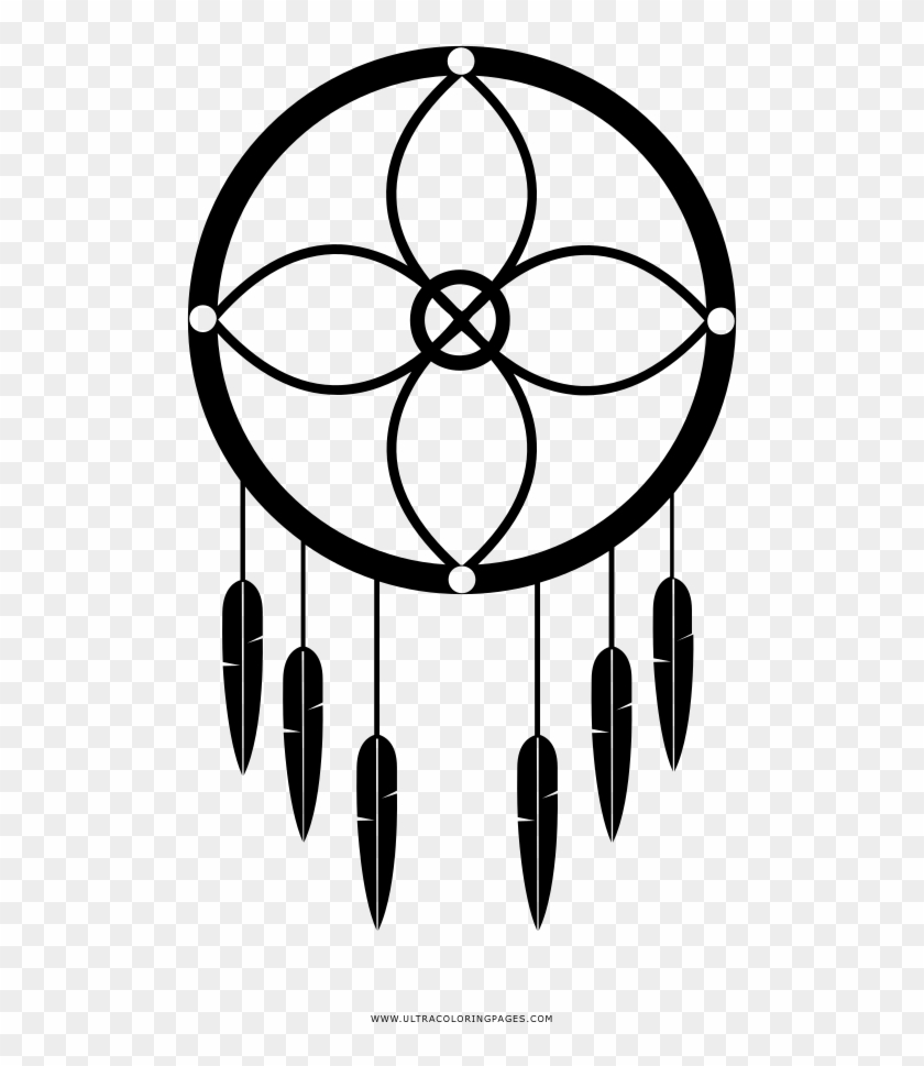 Dreamcatcher Coloring Page Adesivo Filtro Dos Sonhos Free Transparent Png Clipart Images Download