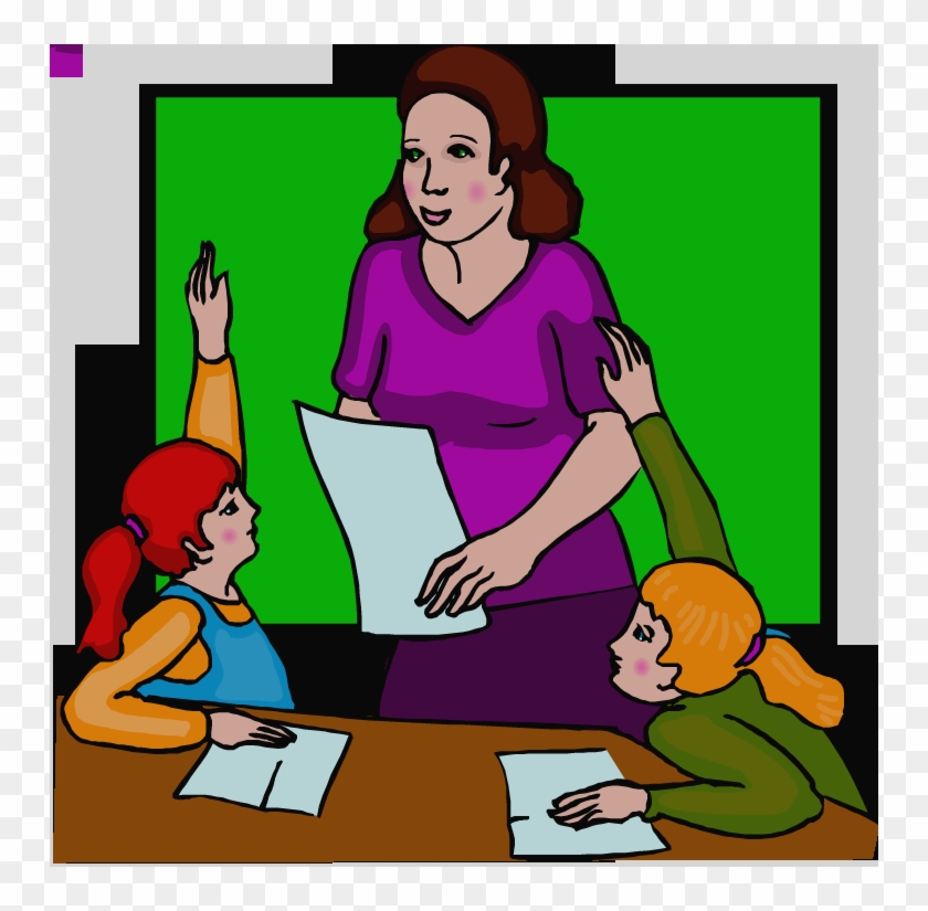 Teacher Teaching Clipart #1721373