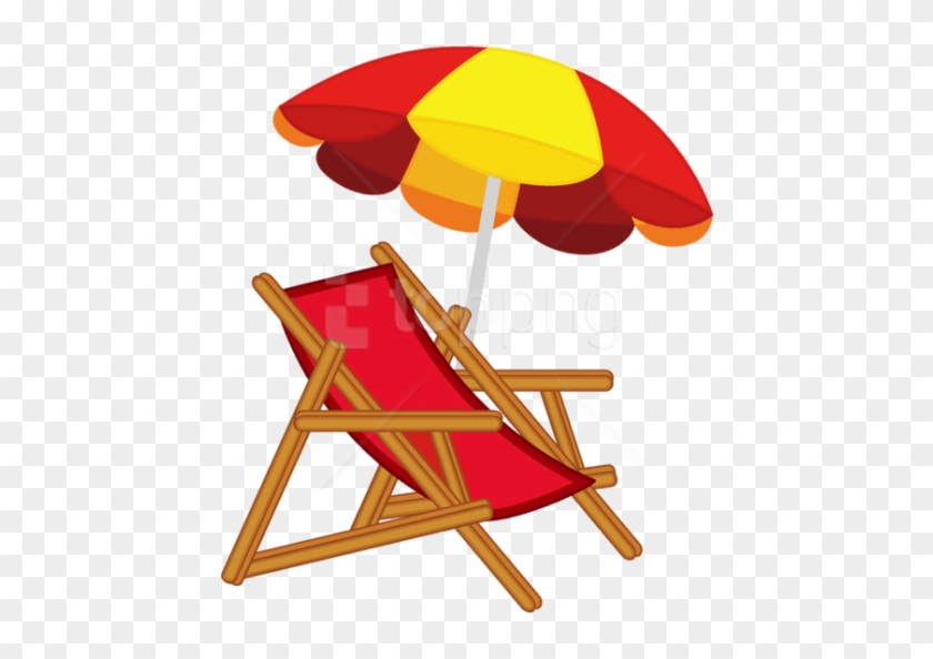 Download Beach Umbrella With Chair Clipart Png Photo - Beach Chair Clipart Png #1725961