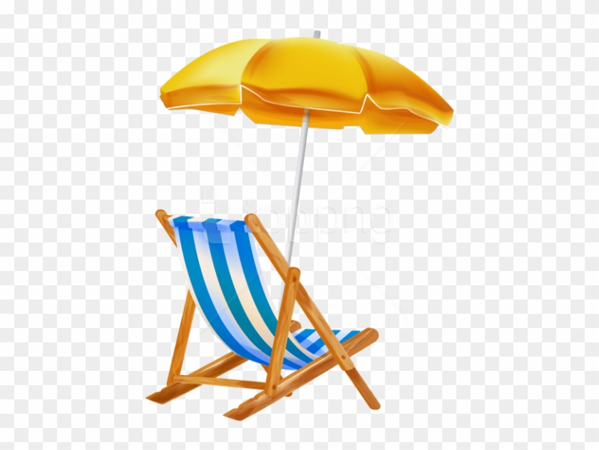 Free Png Download Beach Umbrella With Chair Png Clipar - Beach Chair Png Clipart #1726531