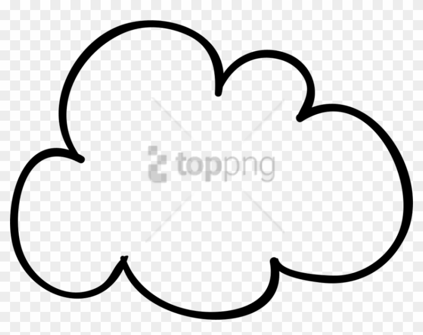 Free Png Hand Drawn Cloud Png Image With Transparent - Hand Drawn Cloud Png #1726698