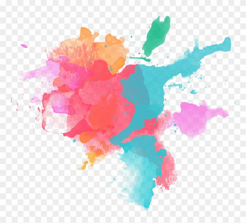 Png Black And White Watercolor Painting Magenta Travel - Splash Water Color Png #1727040