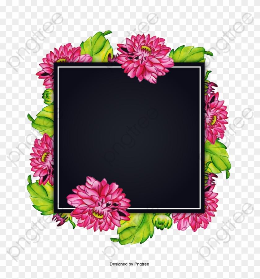 Vintage Save The Date Invitation Design Download Free - Watercolor Floral Frame Backgrounds #1727276