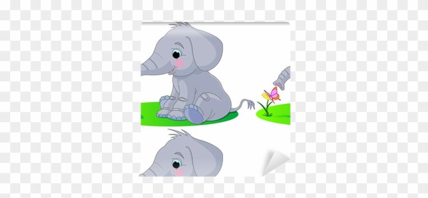 Cute Baby Elephant Cartoon #1728020