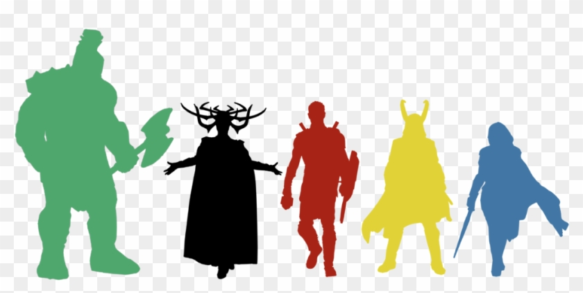 Thor Svg Silhouette Graphic Library Stock - Thor And Loki Silhouette #1728247