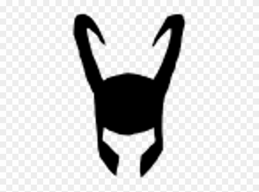 Loki Sticker - Thor Helmet Silhouette #1728274