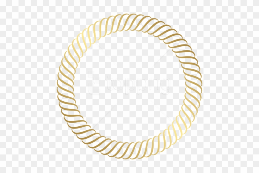 Free Png Download Round Gold Border Clipart Png Photo - Round Logo Border Png #1729275