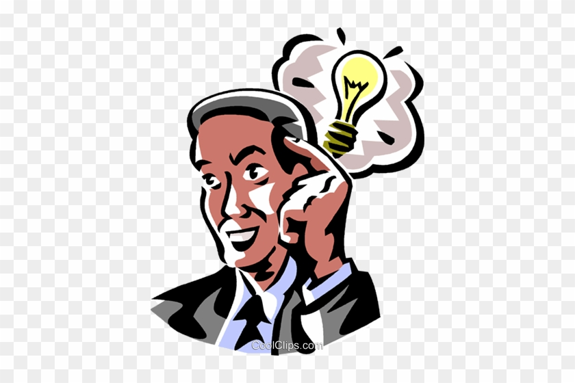 Hombre De Negocios Con Un Foco De Luz Libres De Derechos - Idea Light Bulb #1730551