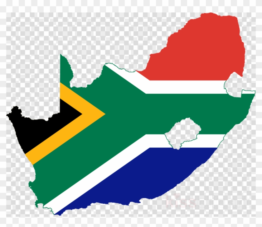 South Africa Flag Map Clipart Flag Of South Africa - South Africa Map Transparent #1732371