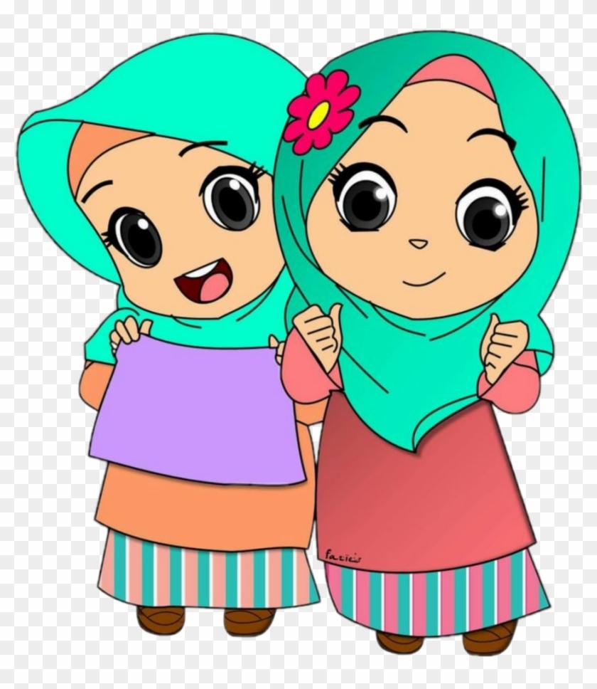 Kartun Muslim Anak Png Hijabfest