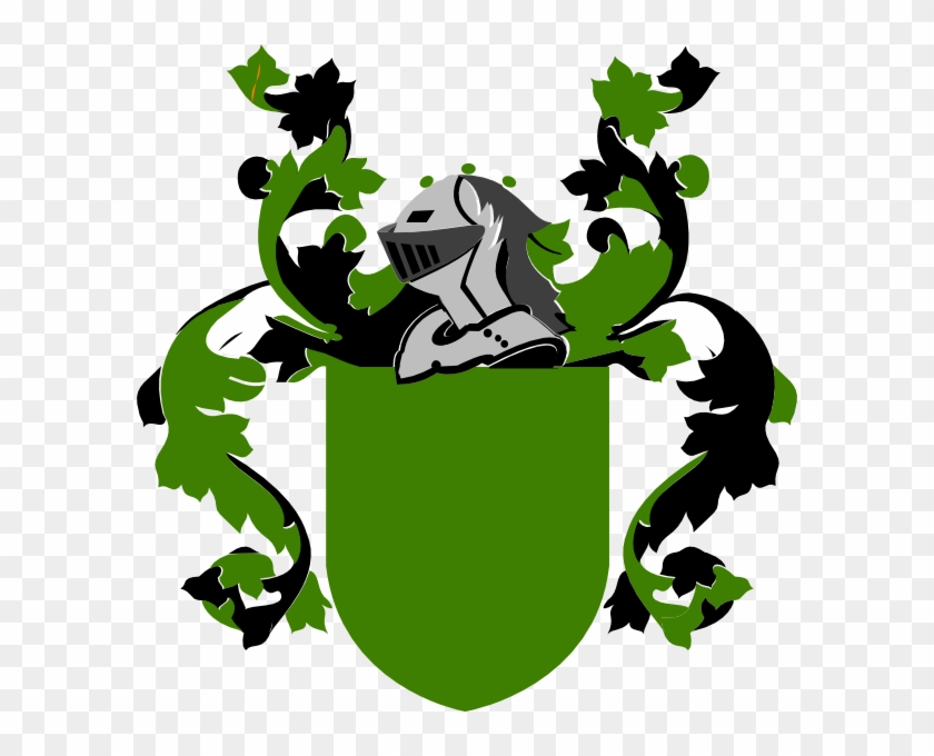 Burley Family Crest Clip Art - Blank Green Coat Of Arms #262542