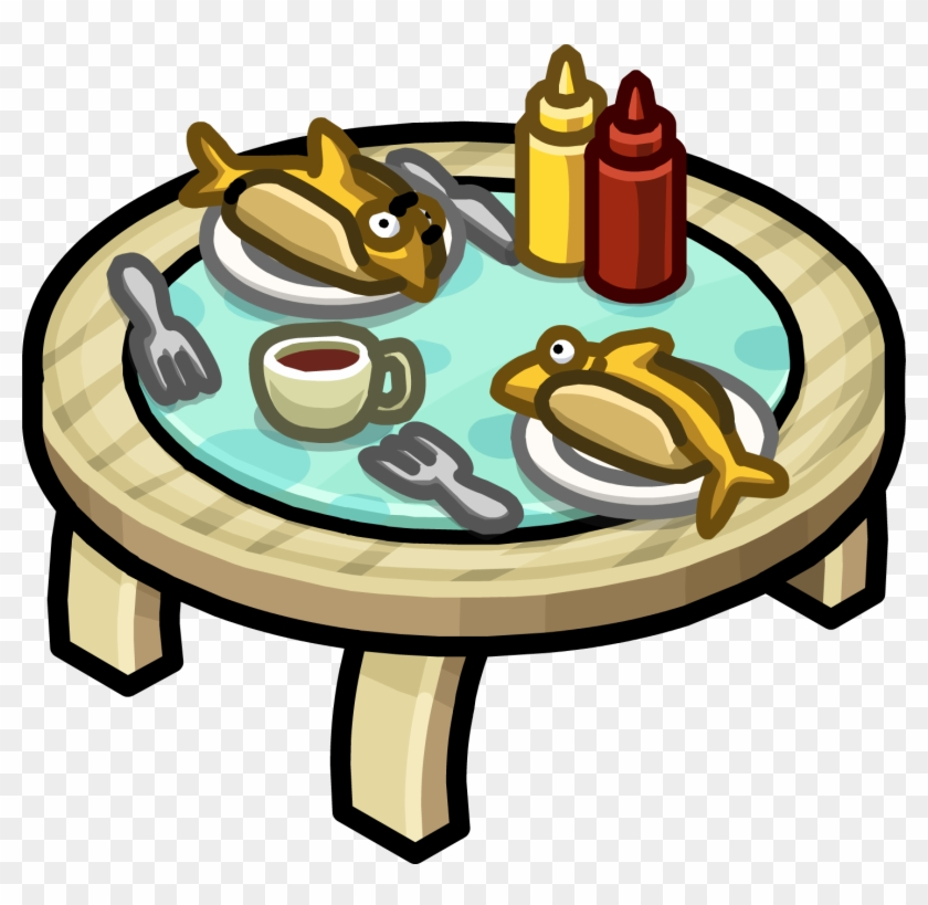 Table For Two - Club Penguin Furniture Table #262692