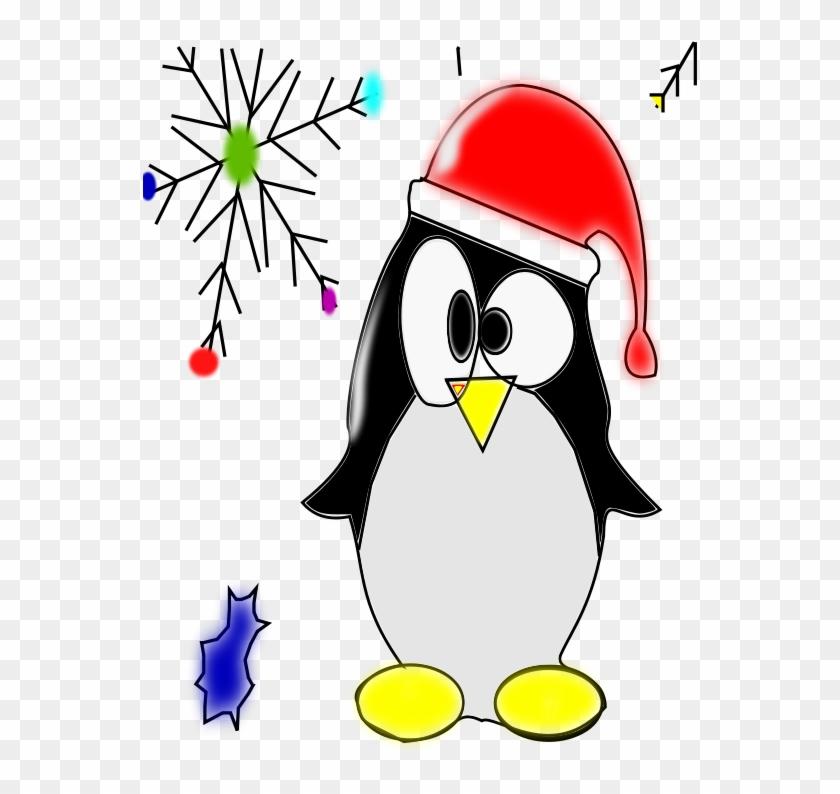 Free Linux Penguin - Christmas Penguin Clip Art #262695