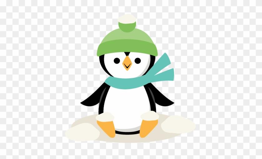 Winter Christmas Penguin Svg Scrapbook Cut File Cute - Cricut #262714