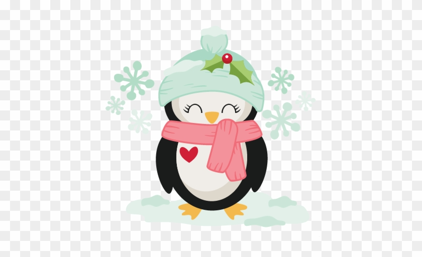 Winter Christmas Penguin Svg Scrapbook Cut File Cute - Miss Kate Cuttables Christmas #262718