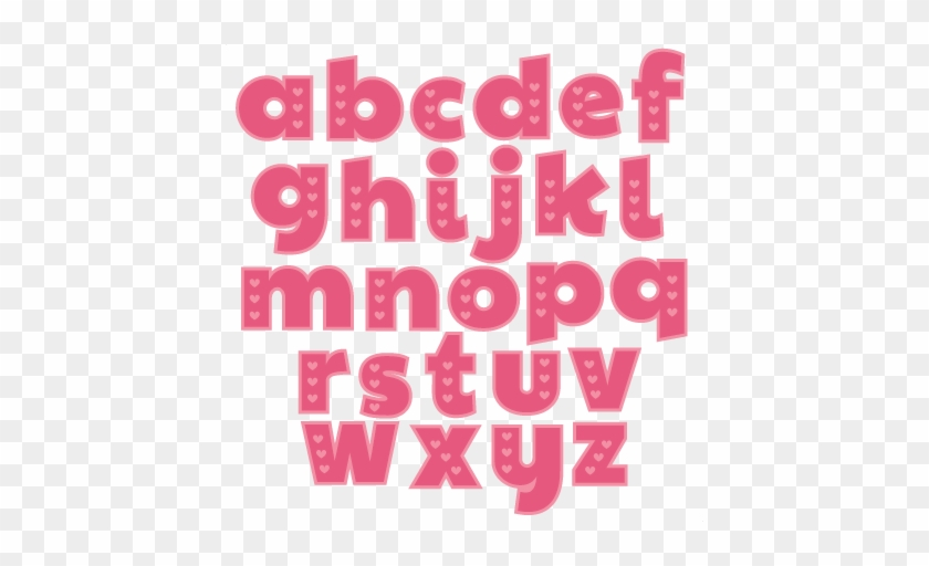 Lettering Clipart Scrapbook - Pink Small Alphabet Letters #263202