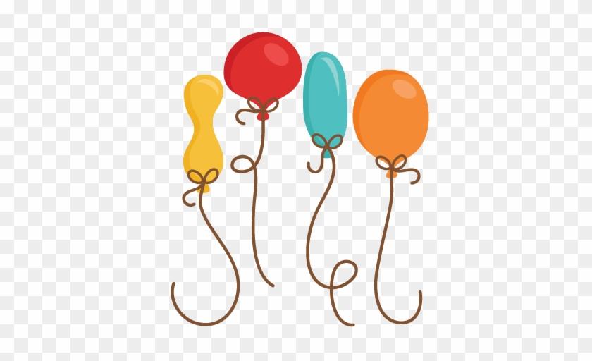 Birthday Balloons Svg Scrapbook Cut File Cute Clipart - Silhouette Birthday Balloons #263225