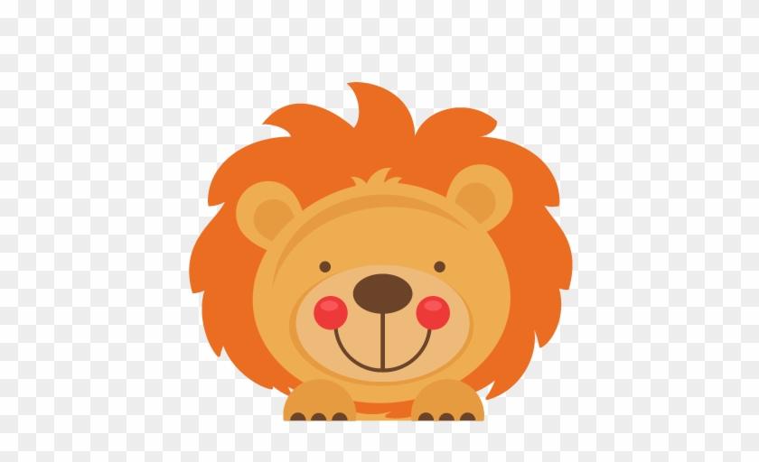 Peeking Lion Svg Scrapbook Cut File Cute Clipart Files - Jungle Animals Peeking Clipart #263290