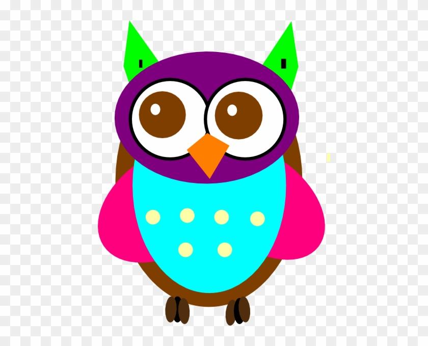 Colorful Baby Owl Clip Art Owls Vector Clip Art Free Transparent