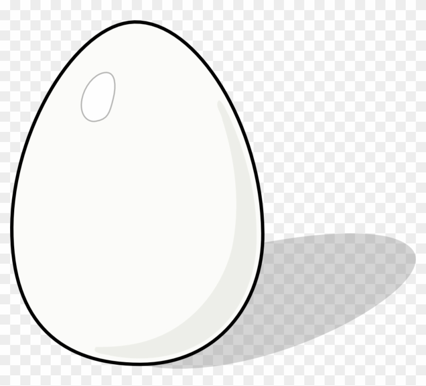 Chicken Clipart Solid Black - White Egg Cartoon #263328