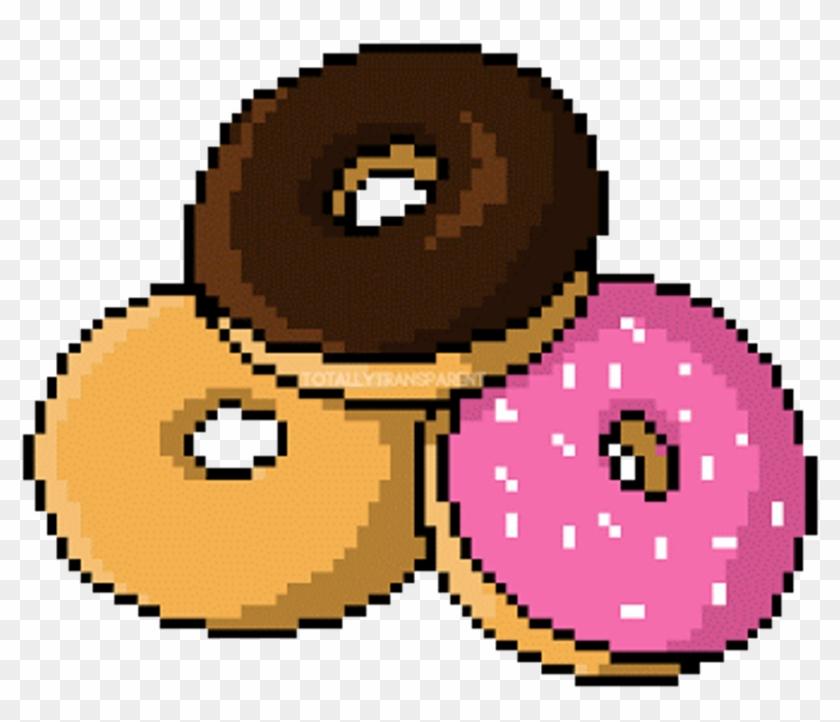 Dona Donut Pink Tumblr Cute Food Png Transparent Transp - Animated Food Transparent #263377