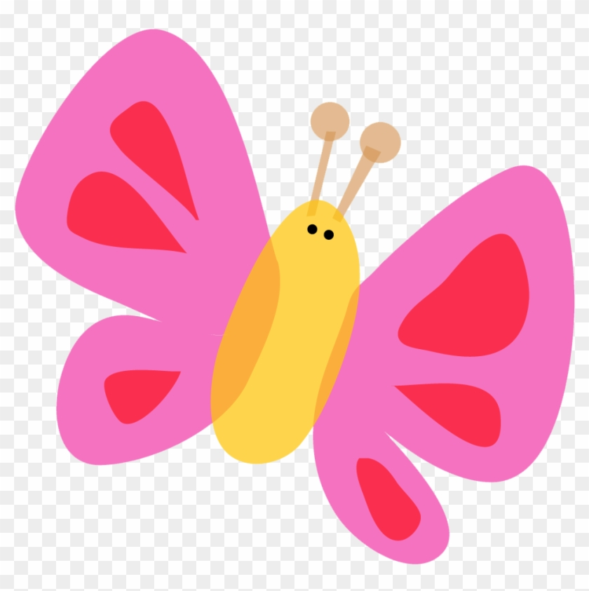 Cute Pink Butterfly Clipart Cute Butterfly Vector Png Free