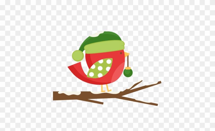 Daily Freebie Miss Kate Cuttables Christmas Bird Svg - Christmas Bird Clip Art #263600